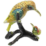 Hummingbird & Baby Jeweled Trinket Box with SWAROVSKI Crystals, by CIEL