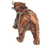 Brown Bear Jeweled Trinket Box with SWAROVSKI Crystals