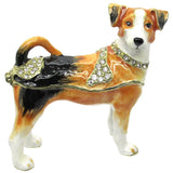 Dog Jeweled Trinket Box with SWAROVSKI Crystals, by CIEL