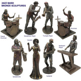 Jazz Band Bronze Sculpture, Vocalist