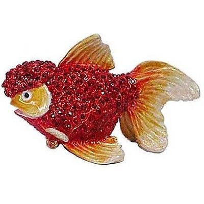 Goldfish Jeweled Trinket Box with SWAROVSKI Crystals, by RUCINNI