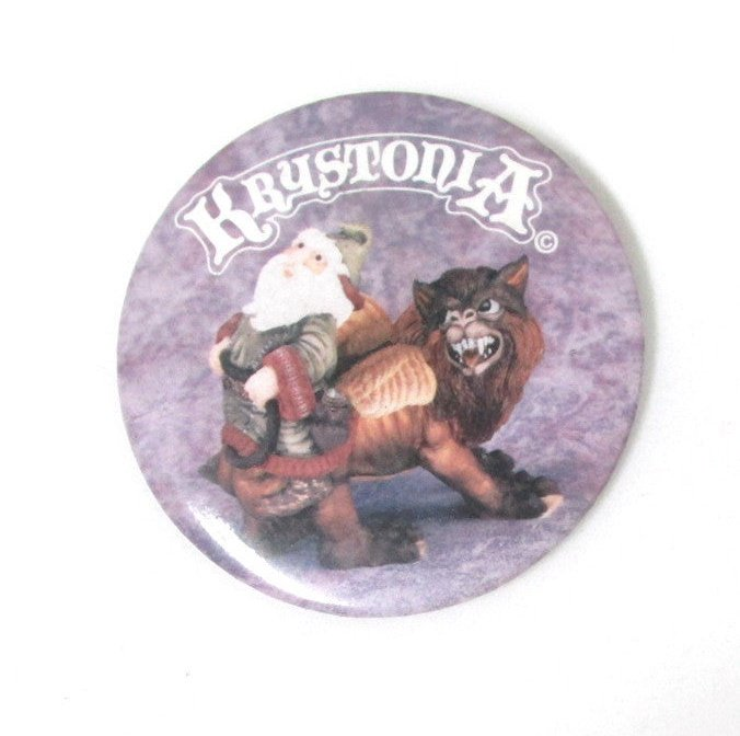 Krystonia Pin-back Button