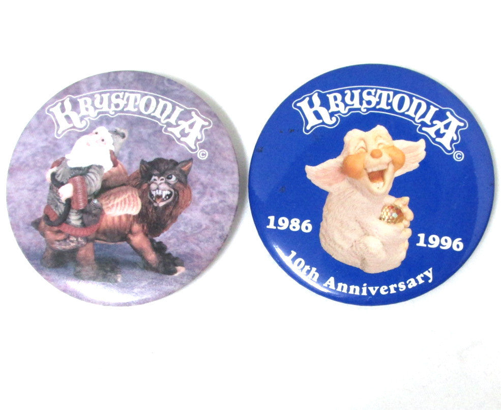 Krystonia Pin-back Buttons, Set of 2