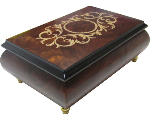"Italian Music Box, 6.5"", Arabesque Inlay, Matte Elm"