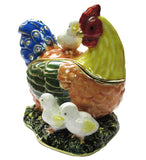 Hen & Chicks Jeweled Trinket Box with SWAROVSKI Crystals