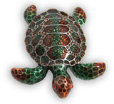 Sea Turtle Jeweled Trinket Box with SWAROVSKI Crystals, by RUCINNI, Brown