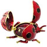 Ladybug Jeweled Trinket Box with SWAROVSKI Crystals, by RUCINNI