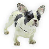 French Bulldog Jeweled Trinket Box with SWAROVSKI Crystals, by RUCINNI