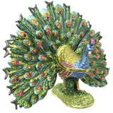 Peacock Jeweled Trinket Box with SWAROVSKI Crystals, by RUCINNI