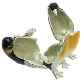Penguin Couple Jeweled Trinket Box with SWAROVSKI Crystals, by RUCINNI