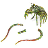 Prawn Shrimp Jeweled Trinket Box with SWAROVSKI Crystals, by RUCINNI, Green