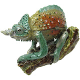 Horned Lizard Jeweled Trinket Box with SWAROVSKI Crystals, by RUCINNI, Green