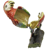 Parrot Jeweled Trinket Box with SWAROVSKI Crystals, by RUCINNI