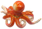 Octopus Jeweled Trinket Box with SWAROVSKI Crystals, by RUCINNI