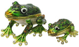 Frog & Baby Jeweled Trinket Box with SWAROVSKI Crystals, by RUCINNI, #3