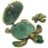 Turtle & Baby Jeweled Trinket Box with SWAROVSKI Crystals, by RUCINNI, #2