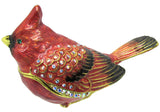Cardinal Jeweled Trinket Box with SWAROVSKI Crystals, by RUCINNI
