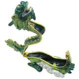 Dragon Jeweled Trinket Box with SWAROVSKI Crystals, by RUCINNI, Green