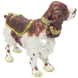 Springer Spaniel Jeweled Trinket Box with SWAROVSKI Crystals, by RUCINNI