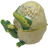 Hatching Dragon Jeweled Trinket Box with SWAROVSKI Crystals, by RUCINNI, Green