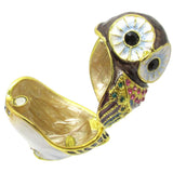 Owl Jeweled Trinket Box with SWAROVSKI Crystals, by RUCINNI