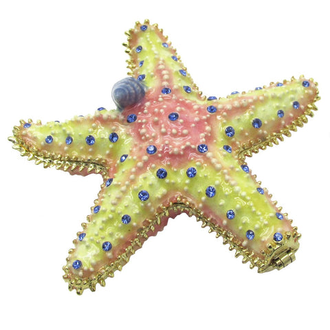 Starfish Jeweled Trinket Box with SWAROVSKI Crystals, by RUCINNI