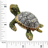 Turtle Jeweled Trinket Box with SWAROVSKI Crystals, by RUCINNI, Clear