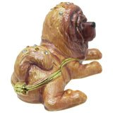 Chow Chow Dog Jeweled Trinket Box with SWAROVSKI Crystals, by RUCINNI