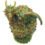 Dragon (Hatching) Jeweled Trinket Box with SWAROVSKI Crystals, by RUCINNI