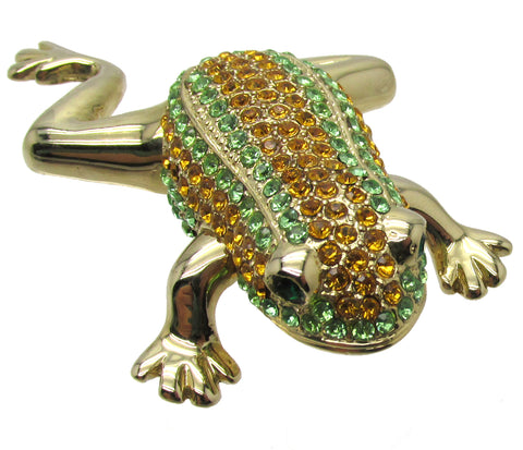 Frog Jeweled Trinket Box with SWAROVSKI Crystals, by RUCINNI
