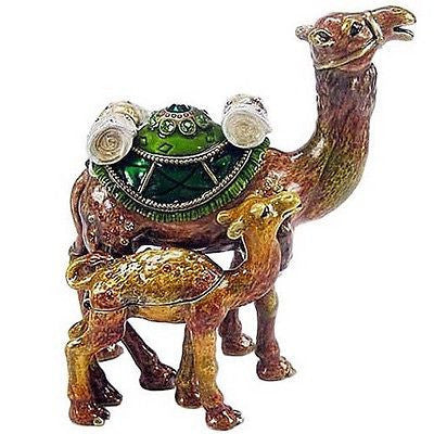 Camel & Baby Jeweled Trinket Box with SWAROVSKI Crystals, by RUCINNI