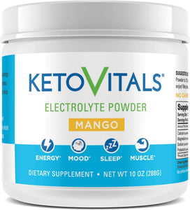 All-in One Electrolyte Powder by Keto Vitals, 10 oz container