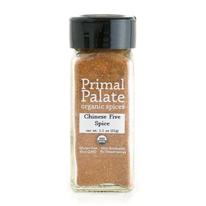 Chinese Five Spice by Primal Palate Organic Spices, 1.1 oz jar