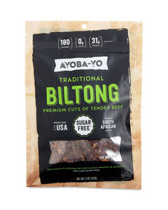 Traditional Beef Biltong by Ayoba-Yo, 2 oz