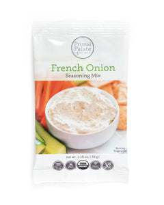 French Onion Seasoning Mix by Primal Palate, 1 packet (1.16 oz)