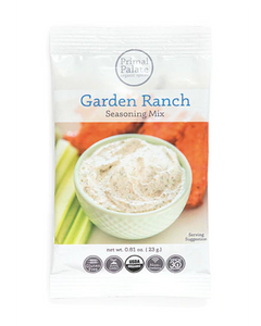 Garden Ranch Seasoning Mix by Primal Palate Organic Spices, 1 packet, 0.81 oz