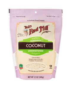Shredded Coconut Unsweetened by Bob's Red Mill, 12 oz