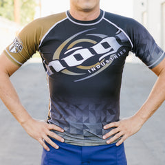 Nogi Brown Short Sleeve Velox Ranks Competitor Rank Rashguard IBJJF approved