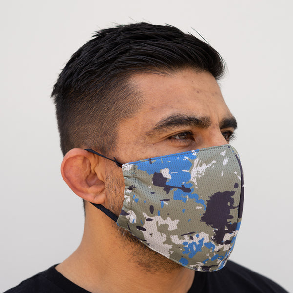 Defender Pro Mask Front Pacific Camo Side