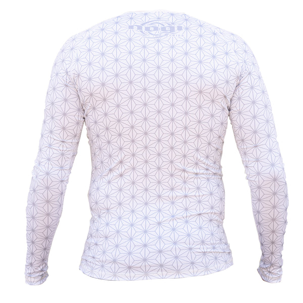 Nogi Industries Spectral Rashguard WHITE Long Sleeve Back