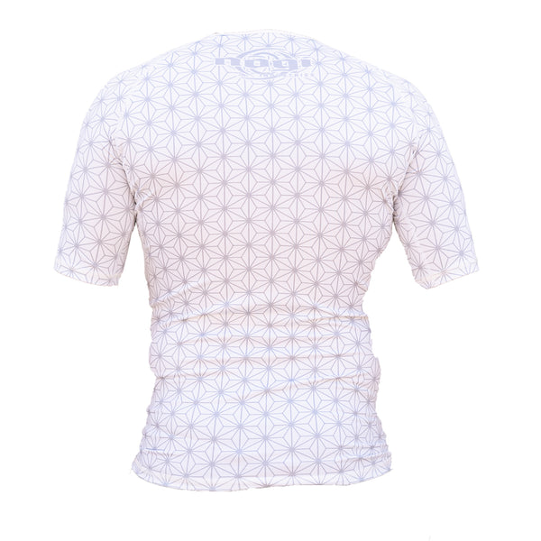 Nogi Industries Spectral Rashguard White Short Sleeve Back