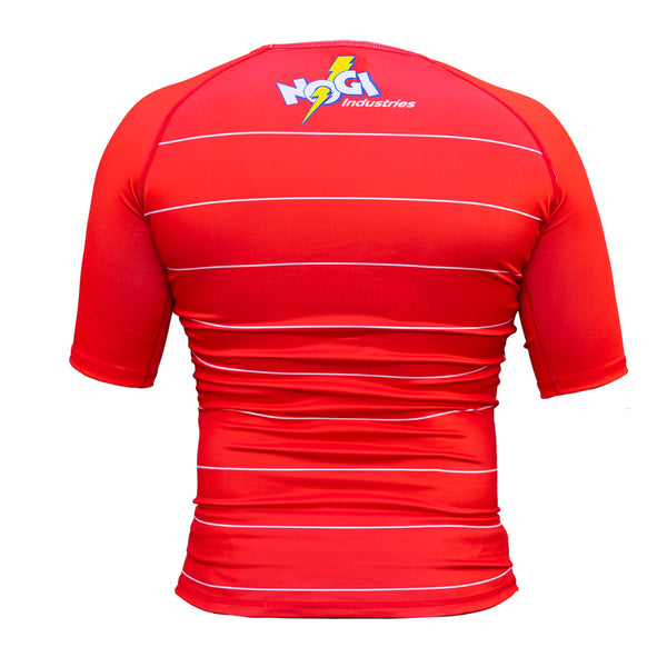 Energy Rash Guard by Nogi Industries Short Sleeve - RED