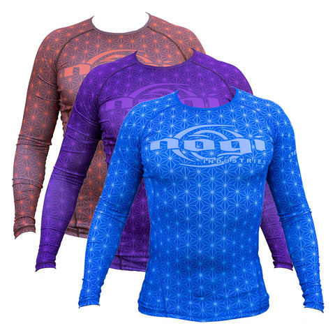 Nogi Tyme Rank Rashguard Blue Purple Brown Long Sleeve