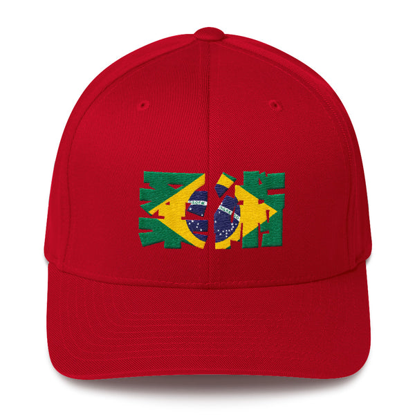 Jiu Jitsu De Brazil Flex Fit Structured Twill Cap - NoGi USA