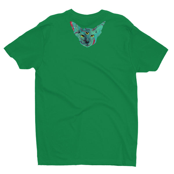 Psychedelic Cat Short Sleeve T-shirt - NoGi USA