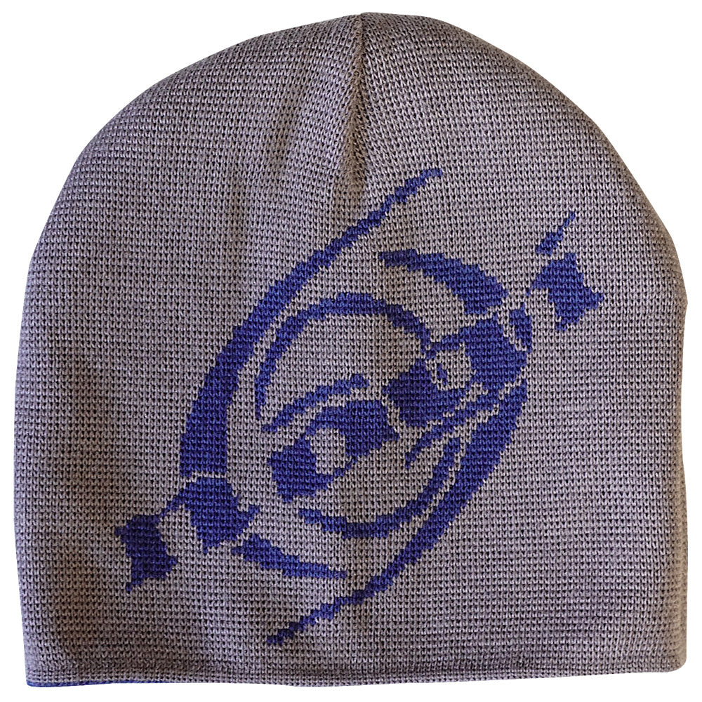 Nogi Industries Reversible Classic Beanie Gray with blue and Blue with white. - NoGi USA