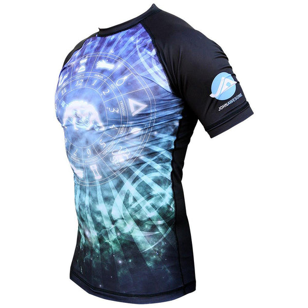Cosmos Rash Guard by Nogi Industries Short Sleeve(Artist Series) Side View