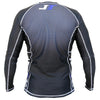 Carbon Long Sleeve Rashguard by Nogi Industries - BLACK Rear View