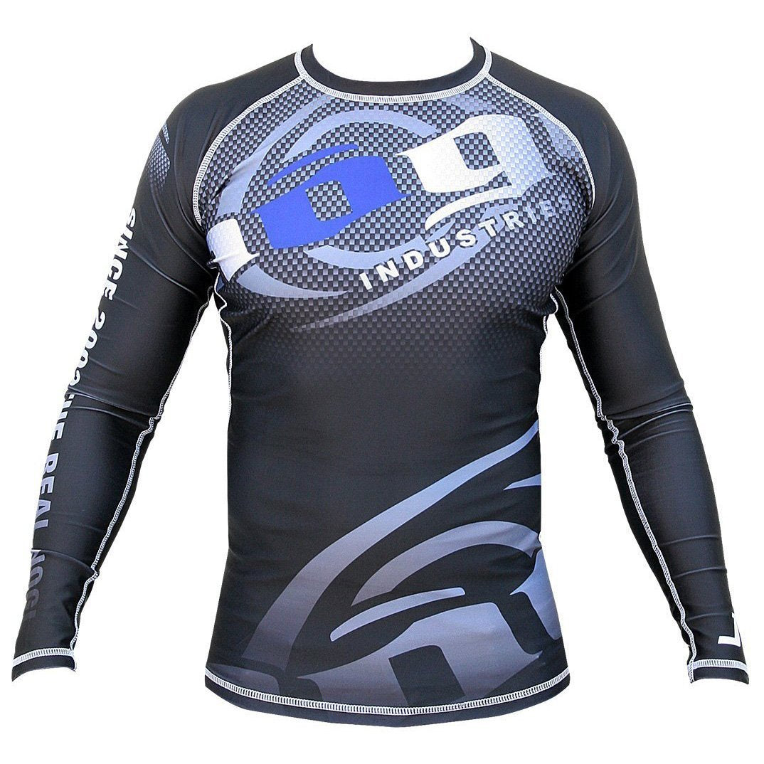 Carbon Long Sleeve Rashguard by Nogi Industries - BLACK Front View