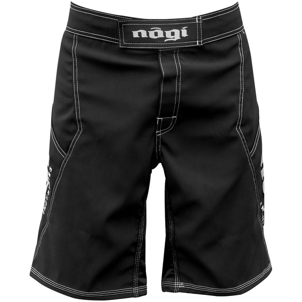 Phantom 3.0 Fight Shorts - Black by Nogi Industries Made in the USA - Front View